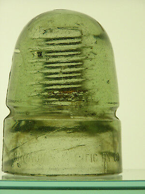 CD 143 [60] Canadian Pacific Railway Co. glass insulator lit yellow green, MLOD