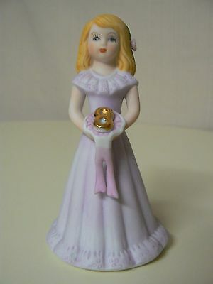 Enesco GROWING UP GIRLS - BLONDE AGE 8 Birthday doll figurine #E2308 NEW