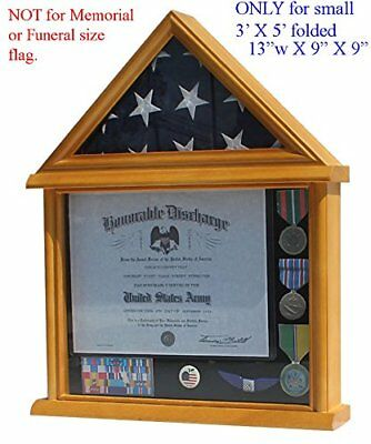 Small 3x5 Flag Display Case Stand, NOT for Memorial or Funeral Flag size.Small 3