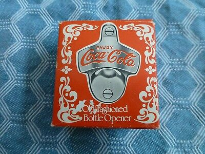 NEW Old Fashioned Cast Iron COCA COLA Wall Mount Bottle Opener Free Shipping