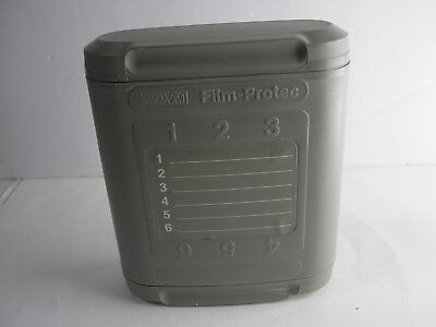 ROWI FILM PROTEC 35mm LEAD LINED FILM PROTECTION CASES HOLD 6 ROLLS NIKON CANON