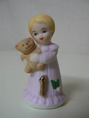 Enesco GROWING UP GIRLS -BLONDE AGE 1 Birthday doll figurine #E2301 NEW 1st Bday