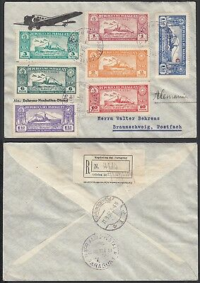 Paraguay 1931 - Airmail cover and used stamps to Braunschweig...(AIX3630) MV-209