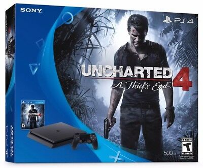 *BRAND NEW* Sony PlayStation 4 Slim 500GB System Uncharted4 A Thiefs End BUNDLE!