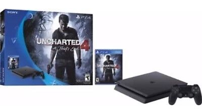 *NEW* - Sony PlayStation 4 Slim 500GB System Uncharted4 A Thiefs End Game BUNDLE