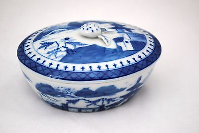 Mottahedeh Blue Canton Oval Covered Dish Box or Individual Casserole