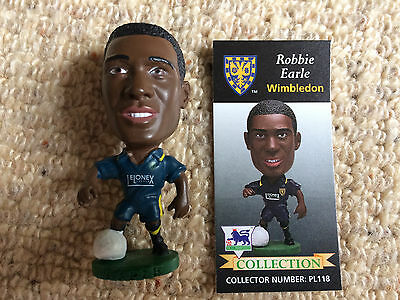 95/96 Corinthian Robbie Earle Wimbledon Figure & Card Excellent Condition