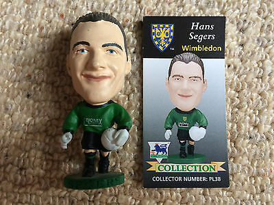 95/96 Corinthian Hans Segers Wimbledon Figure & Card Excellent Condition