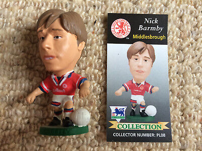 95/96 Corinthian Nick Barmby Middlesbrough Figure & Card Excellent Condition