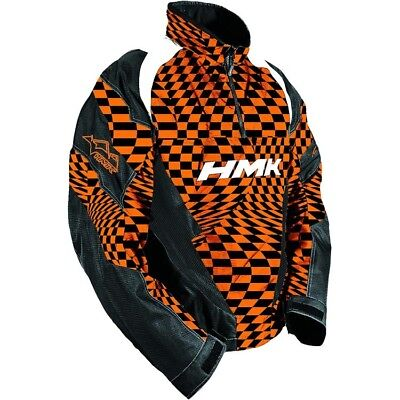 Hmk Pullover Throttle Shell Jacket Orange Checkers M