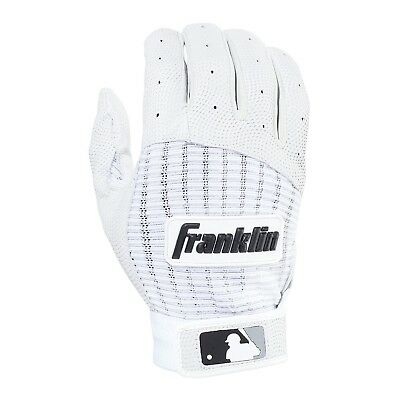 (Adult X-Large, Pearl/White) - Franklin Sports MLB Pro Classic Batting Gloves