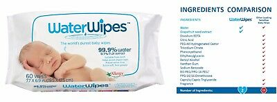 300 Water Wipes Chemical Free Baby Wipes High Quality 99.9% water 0.1% Fruit Ext