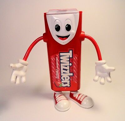 """Rare 1999 Twizzlers 12"""" Bendy Character Candy Dispenser W/ Jolly Laughing Sound"""