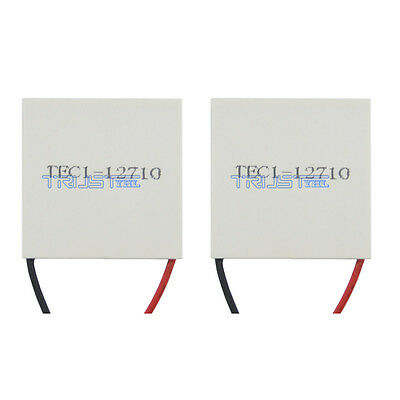 2pcs New 12V TEC1-12710 Thermoelectric Cooler Peltier Plate Module USA.