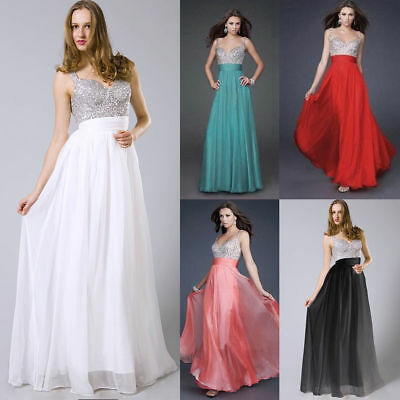 2017 Long Wedding Formal Evening Cocktail Ball Gown Party Prom Bridesmaid Dress