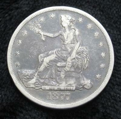 1877 Seated Liberty Trade Dollar * Scratched Reverse * Great Obverse for a Book