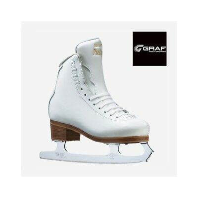 """Graf """"Prestige"""" White Leather Boot Club 2000 Blades for Ice/Figure Skating NEW"""