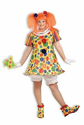 Giggles The Clown Plus Size Halloween Costume Adult Dress Women's Wench Female