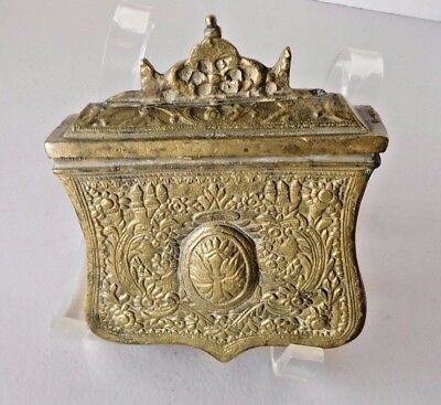Authentic Balkan Antique Ottoman Cartridge Bullet Brass  Box Gun Powder