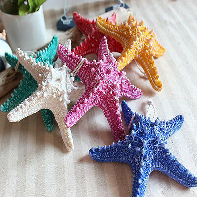 1X Resin Starfish Home Tank Office Hanging Decor Beach Ocean Sea Shell Keyring