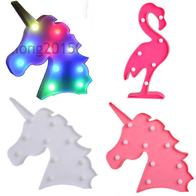 Unicorn Head LED Letter Table Lamp Night Light Children Room Light Gifts
