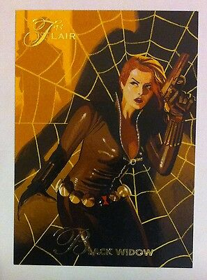 2015 Upper Deck Marvel Fleer Retro Flair Origin Chase Card #1 BLACK WIDOW