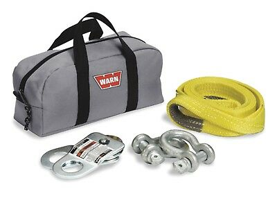 Warn 70792 Winch Rigging Kit - With Two Shackles; Snatch Block; Load Strap and