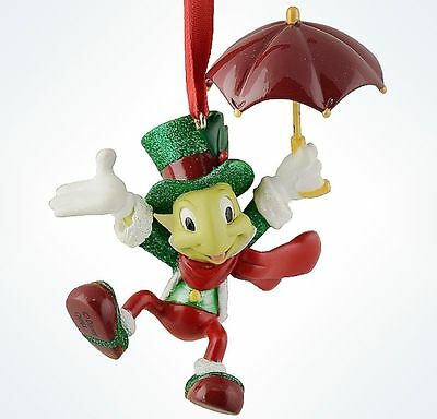 Disney Parks Christmas Pinocchio JIMINY CRICKET Resin Ornament ~ NEW with TAG ~