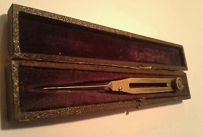 Antique Brass Precision Proportional Divider Drafting Tool w Case
