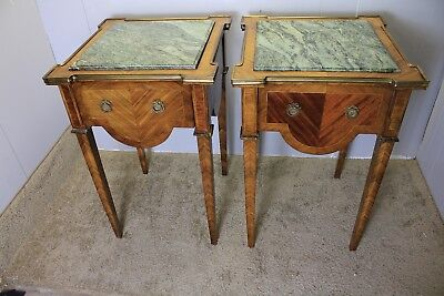 Great French Louis XVI Satinwood & Rosewood  Nightstands, Side Tables