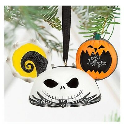 Disney Parks JACK SKELLINGTON and ZERO Ear Hat Ornament ~ NEW WITH TAG ~