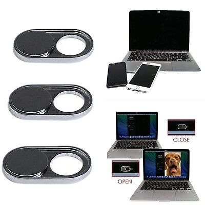 WebCams Shutter Covers Web Laptop iPad Camera Secure Protect your Privacy Black