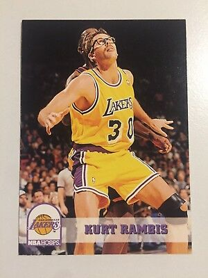1994 SkyBox NBA Hoops Basketball Card Los Angeles Lakers #355 Darrell Rambis