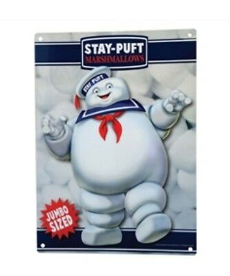 NEW Ghostbusters Stay Puft Jumbo Sized Marshmallow Man Metal Sign