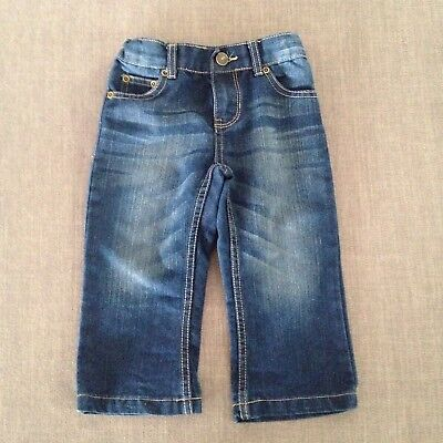 Girls Navy Jeans VGC, Size 1