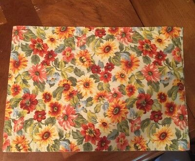 Longaberger Sunflower Set Of 6 Placemats
