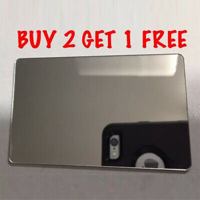 Shatterproof Flexible Light Weight Credit Card Sized Pocket Travel Mirror Small