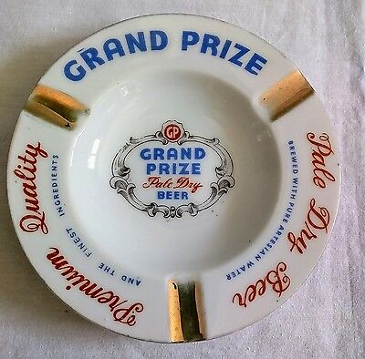 Grand Prize Beer Ash Tray from Houston, Texas