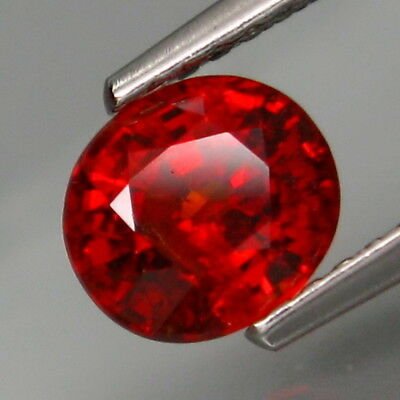 1.30Ct.Outstanding Color! Natural Red Spessartite Garnet Africa Full Fire!