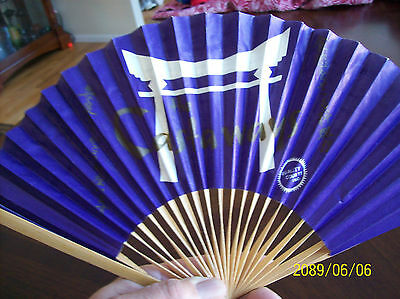 Collectible ADVERTISING FOLDING HAND FAN ( Castaways ) paper wood made Japan