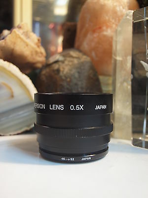 Sima Wide Angle Conversion Lens 0.5 X (46 -52) Japan - Free Registered Post