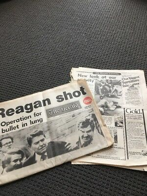 The Herald Tuesday March 31 1981 Reagan Shooting And Newspaper Articles