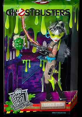 Exclusive Monster High GHOSTBUSTERS Frankie Stein Mattel doll- SDCC 2016