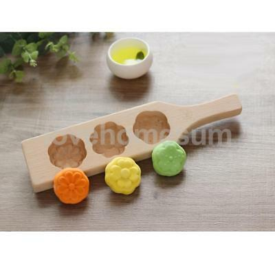 Wooden FONDANT MOLD DIY MOONCAKE COOKIE MUFFIN PASTRY MOLDING MOLD