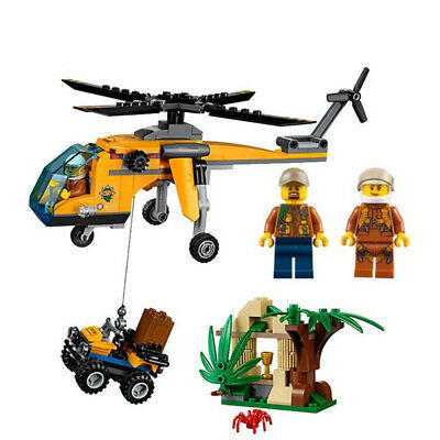City Series 215pcs Genuine Jungle Cargo airplane Building Blocks for gifts