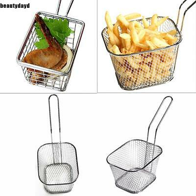 Hot Mini Frying Net Square Basket Strainer French Fries Fryer Tools cf