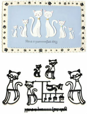 Cat Kitty Pussy and Paws Different Sizes Design Cutters Embosser FREE POSTAGE