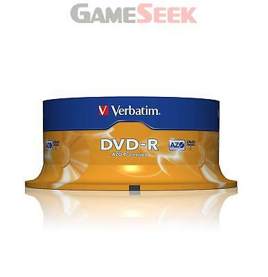 Verbatim Dvd-R 16X 25Pk Spindle   Free Delivery Brand New