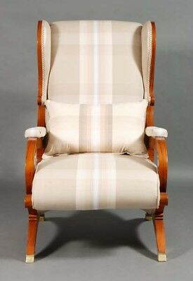 Side Wings Chair Chair Seating Furniture Antique in the Biedermeier style