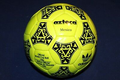 1986 World Cup Ball Azteca yellow Adidas size 5 Made in France Very Rare New
